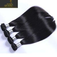 Wholesale Brazilian Peruvian Indian Malaysian Straight Virgin Human Hair Weave Bundles Unprocessed A Grade Remy Hair Natural Black B