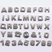 Wholesale 1 Set Silver Car Logo Auto D Emblem Badge Sticker Chrome Letters Number with Free Pen