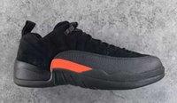 Wholesale Air RR Jordan Low Retro Black Max Orange Anthracite s Basketball Shoes With Original Box