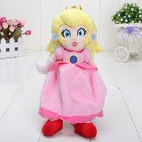 al por mayor princesa peach muñeca de juguete de la materia-Venta al por mayor- 8 '' 20cm Super Mario Princesa Peach relleno juguetes de muñeca Super Mario Bros Plush Toy