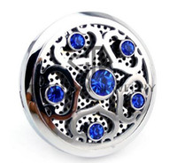 Wholesale China manufacturer cheap Jewelry Car Air Fresher Essential Oil Diffusing Locket With Colorful CZ Crystal And Mirror Polished