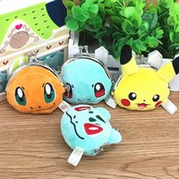 Wholesale Poke Go Wallet Bags Kids Poke Purse Children Cartoon Pikachu Jeni Turtle Bulbasaur Charmander Wallet Purse PPA642