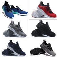 Wholesale Sale Kanye West Alphabounce Men Running Shoes Sneakers Bounce Black White Sports Shoes Outlet Store