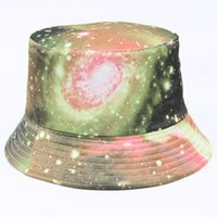Wholesale 2017 New women Starry Sky Print Bucket Hat Bob Chapeau Panama hat fashion ladies Summer Sun Hats Fishing Caps styles High quality