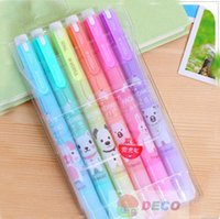 Wholesale Kawaii cartoon animal design Highlighter gift cute colorful pens ss