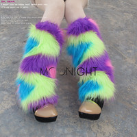 ankle cuff shoes - Women Winter Leg Warmers Ankle Covers Sexy Hit Color Socks Faux Fur cm Boots Shoes Cuff Furry Soft leg Ankle warmer Christmas