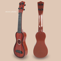 Wholesale Mini String Brown Guitar Beginners Practice Acoustic Children Kids Toy Wisdom Development Musical Instruments