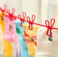 Wholesale multipurpose portable adjustable cm length antislip clothesline outdoor drying racks clips cloth line aundry clothesline rope with hook