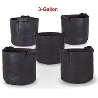 Wholesale Tangle Home Use Pack Gallon Grow Bags Aeration Fabric Pots w Handles High Quality Aeration Fabric Pots