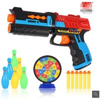 Wholesale Manufacturers of direct supply of toy guns safety race soft egg gun non electric toy guns children shooting soft bullet guns
