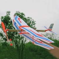 airplane assembly kit - NEW Educational DIY Assembly Airplane Aircraft Launched Powered By Rubber Kids Model Building Kits