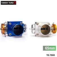 Wholesale Tansky mm quot High Flow Alloy Universal CNC Billet Aluminum Intake Throttle Body Silver Blue TK TB65