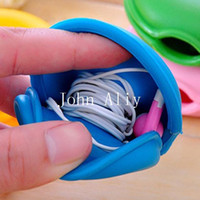 Wholesale Turtle Cable Winder Silicone Earphone Cord Organizer Mobile Phone MP3 Headphone Date Cable Winder