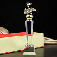 Wholesale An Oscar statuette cup trophy award trophies custom game activity notes metal crystal trophy cup