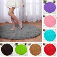 Wholesale Hot Selling Fluffy Round Foam Shaggy Rug Anti Slip Bathroom Bedroom Mat Home Floor Carpet Soft Plush