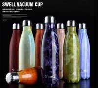 best metal water bottle - 2016 Hot sales well Men s Large Stainless Steel Bottle Vacuum Flask Cup S well Sports bicycle water Bottles ml Best quality colors