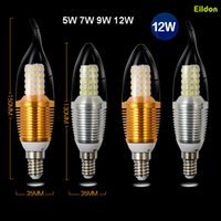 Bougies à LED Bougies à queue 5W 7W 110V 220V AC85-265V 2835SMD E12 E14 Lampes à globes E27 Éclairage direct de Shenzhen China Factory Wholesales