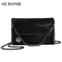 bag borsa - HS RHYME Women Messenger Bags Pu Fashion Portable Evening Chains Hobo Borsa Shoulder Clutch Bolso Female Carteras Mujer Handbags
