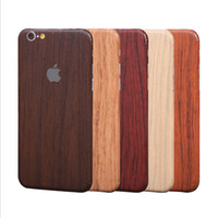 Wholesale For iphone7 plus iphone6 splus full Body CellPhone Sticker Vintage Imitate wood grain Skin Cover for iphone5S Samsung S7 edge S6 J7 J5