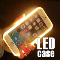 Cheap For Samsung led light case Best PC Red led case iphone
