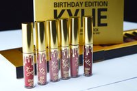 Wholesale Kylie Metal Gold Lip Gloss Limited Kylie Jenner Makeup Cosmetics Birthday Edition Collection Matte Lipstick Set Kylie Mini Kit Gloss