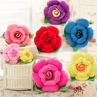 Wholesale cm Special Toy Rose Flower pillow colors Wedding and Birthday Gift Plush Toys Curtains Home Furnishing