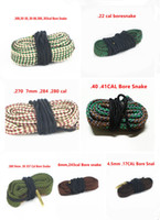 Wholesale Hunting Bore Snake rifle Cleaning Cal mm mm mm mm Calibre Boresnake Rope Rifle Barrel