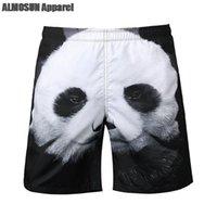 beach panda - ALMOSUN Cute Lazy Panda D All Over Print Shorts Animals Fashion Summer Beach Men Women Shorts