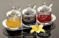 acrylic spice jar - 3PCS Set Acrylic Seasoning Box Spice Jar Seasoning Bottle Kitchen Housing Supplies Spices Box Spices Pepper Shakers