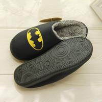 Wholesale Supply Superman Unisex Slipper Faux Fur Slide Sandal Fashions Women Slippers Black Slide Sandals Cotton Slides