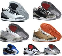 Cheap Cheapest Air 3 men retro basketball shoes online authentic good quality product sneakers US size 8-13 free shipping with box