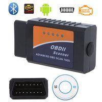 Wholesale Professional Diagnostic Tool OBD2 OBD II ELM327 ELM V2 Bluetooth Car Diagnostic Interface Scanner Works On Android