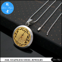 aquarius man - Zodiac Aquarius Stainless Steel Pendant Gold Plated Fashion Jewelry Hollow Box Classic Design For Man and Women