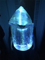 Men Pullover Yes led light up men hoodies fiber optic costumes music festival nightclub party wear men led clothing