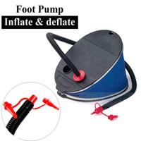 beach kayak - foot inflation deflation deflate inflation inflate air pump for PVC inflatable air mattress boat kayak toy beach ball ring mat