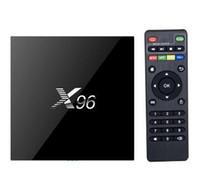 Wholesale DHL X96 Smart TV BOX Android Amlogic S905X Quad Core KODI Marshmallow K Mini PC Wifi HDMI G G