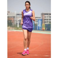 Wholesale new arrivals women training tracksuits quick drying vest and shorts jogger jogging uniforms running collections for female