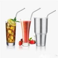 Wholesale Stainless Steel Straws and Cleaning Brushes for Yeti Rambler RTIC Drinks Tumbler Cup Brush OZ OZ Avaiable Tervis Tumbler Cups