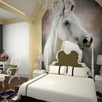 Wholesale Custom Horse entrance hallway TV background wallpaper wallpaper living room painted a large mural painting wall covering