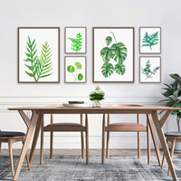 Wholesale Modern Plants Painting Oil Picture Printed On Canvas Mural Art Home Living Hotel Cafe Office Wall Decor