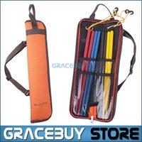 Wholesale Drumstick Bag Waterproof Oxford Drum Dticks Shoulder Case Holder Orange Portable New