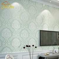 Wholesale Damask Floral Wall Paper D For Living Room Bedroom Home Decor Non Woven Embossed Europe Wallpaper Roll papel de parede D