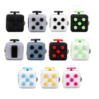 12-14 Years Purple Latex Fidget Cube Toys for Girl Boys Puzzles & Magic Cubes Anti Stress with box novelty gag decompress toys dice