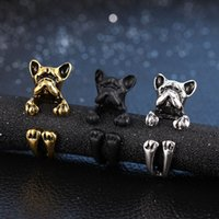 antique wedding bands for women - 2015 New Cute Adjuatable Hamster Wrap Ring Retro Mouse Dog Rings for Women in Antique Gold and Bronze