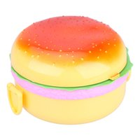 Wholesale PP mL Double Tier Children Hamburger Bento Lunch Box Food Container Storage with Spoon Fork Lunchbox Bento Container
