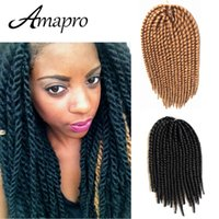 Wholesale Amapro Hair Products Havana Mambo Twist Crochet Braiding Hair Extensions Inch Synthetic Crochet Twist Senegalese Braids Hair