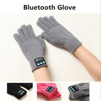 Wholesale 2016 Female Bluetooth Gloves Women s Winter Gloves Touch Screen Talking Gloves Knit Mittens for Mobile Phone Pad