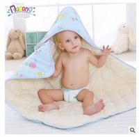 baby king products - The baby was Mutong double layer cotton cotton blankets baby bear newborn products coated blankets in autumn and winter