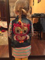 Wholesale 3T T Kids Jackets Girls Outerwear Autumn Girls Clothes Children Cartoon Owl Appliques Coat Cowboy Waistcoats Length Jacket LA373