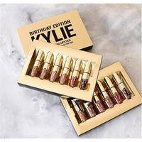 Wholesale Kylie Lip Kit Lipstick AAA Golden Box Gloss Suits Makeup Birthday Editon Matte Nice Cosmetics Health Beauty Newest Jenn